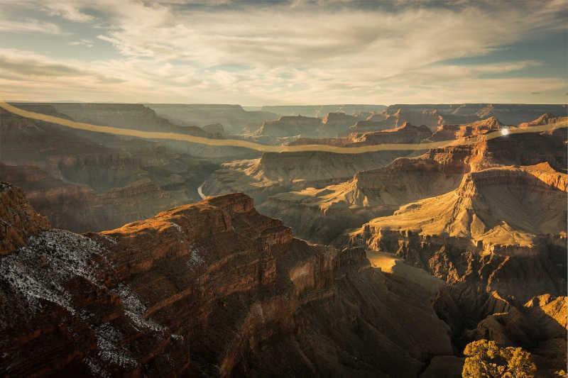 The golden thread across the canyon